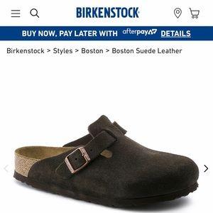 Mocha brown Birkenstock clogs
